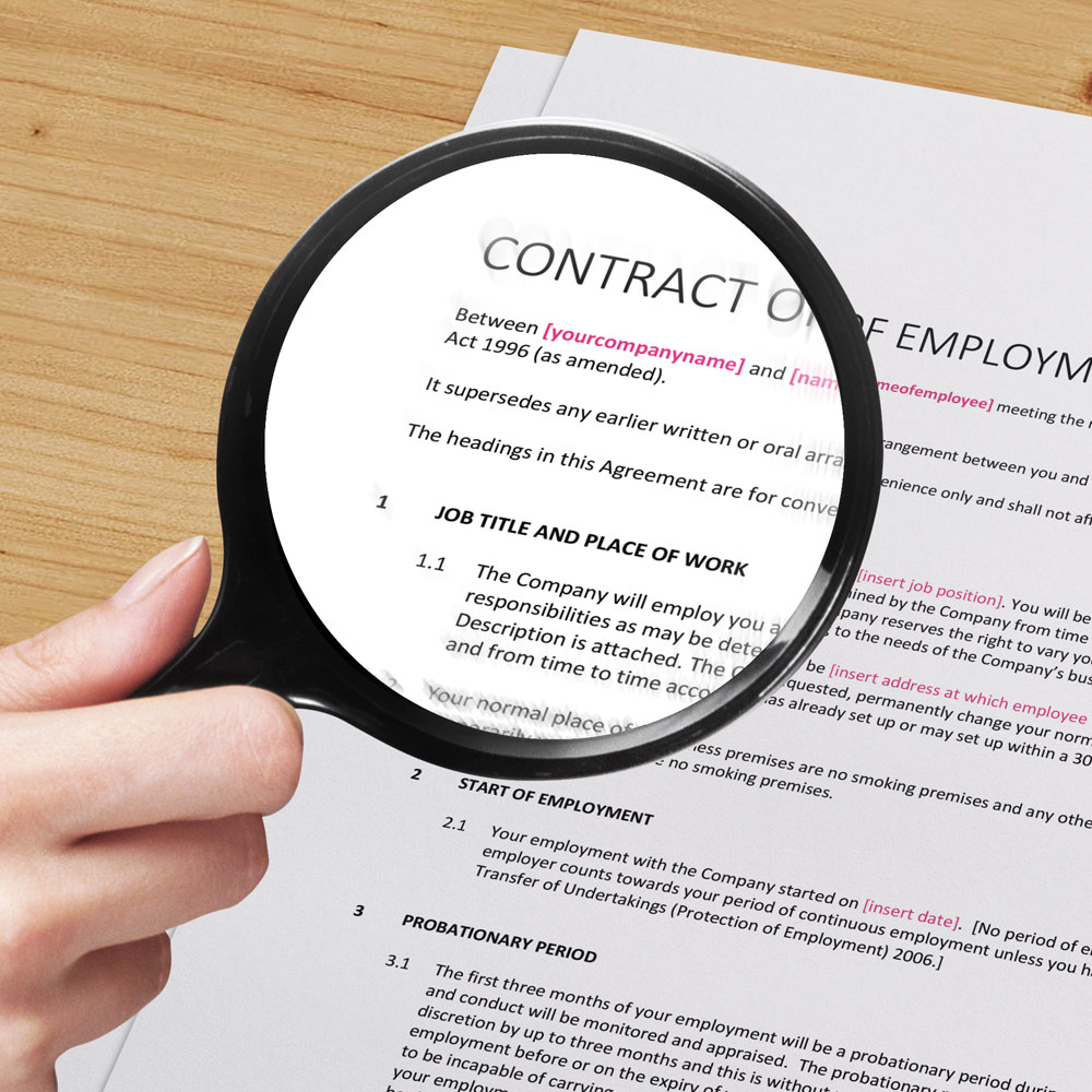 permanent contract of employment template - basic contract of employment perm claritas